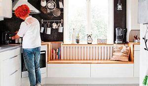 Cocina blanca con lavadero premio del p blico casa decor for Cocina con comedor diario