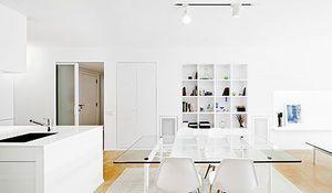 Un espacio tres ambientes por diego rodr guez for Cocina salon espacio abierto