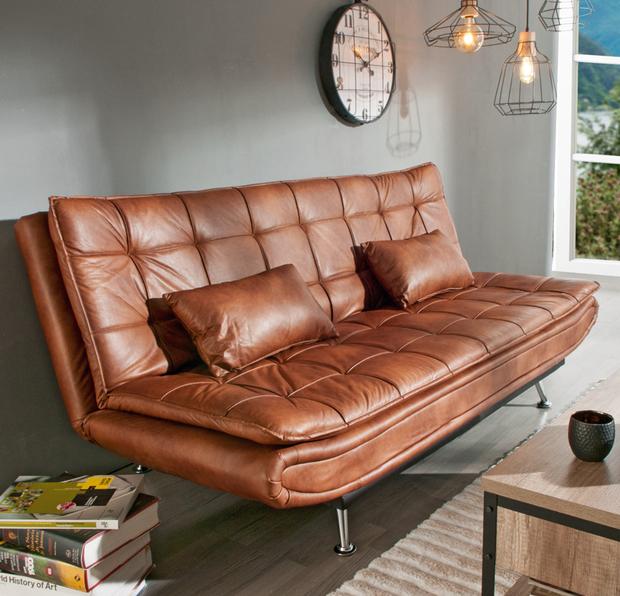Claves para escoger el sofá perfecto: modelo Willem, en piel sintética, de Conforama