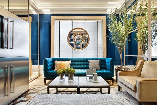 Salón-cocina diseñado por Manuel Espejo en Casa Decor 2019