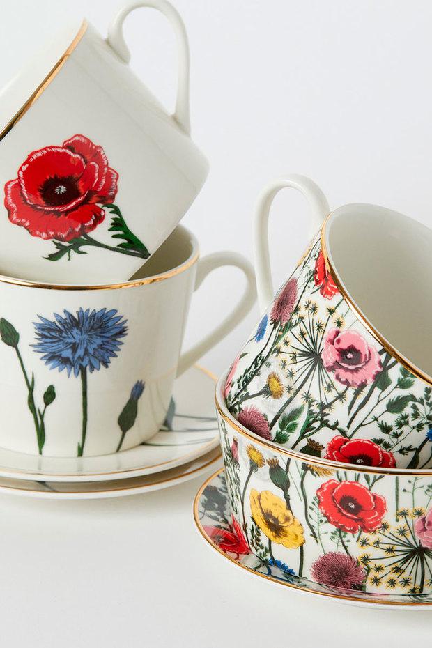 Estampados florales: tazas de H&M Home