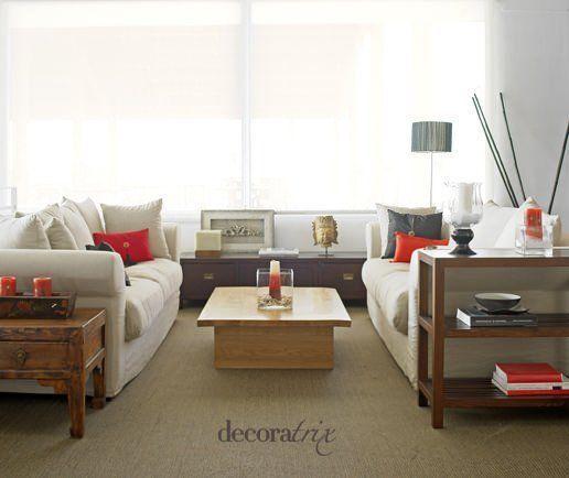 C mo mezclar maderas en el sal n y comedor - Muebles color cerezo como pintar paredes ...