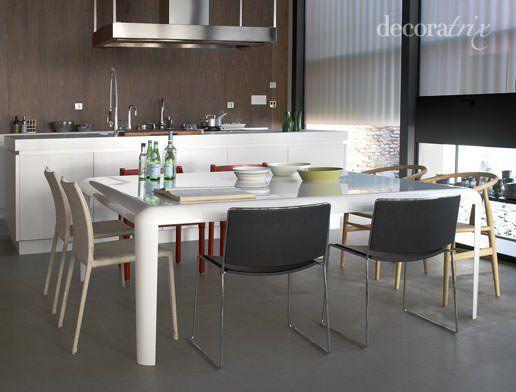 Bonito Mesa De Comedor Cocina Isla Imagen - Ideas Del Gabinete de ...