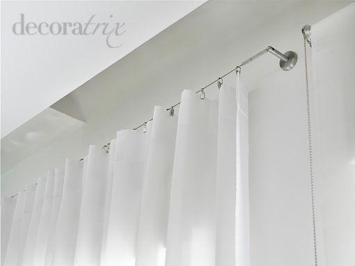 Dos sistemas para colgar una cortina - Como colgar unas cortinas ...
