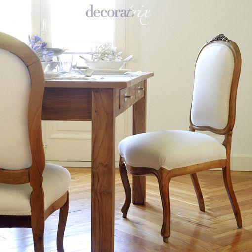 Muebles antiguos actualizados for Tapicerias castano