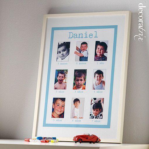 Marcos de fotos para niños en diferentes edades