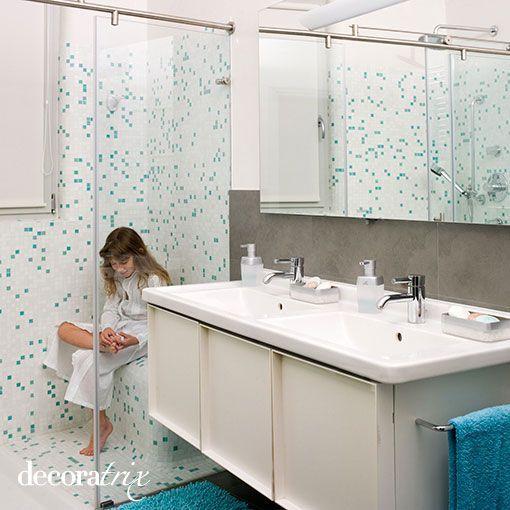 Un cuarto de baño pensado para dos