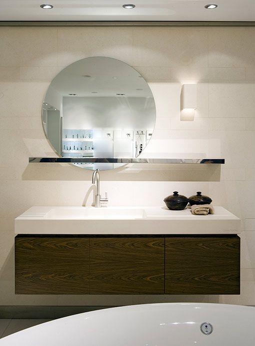 Muebles de lavabo suspendidos for Muebles de bano con encimera