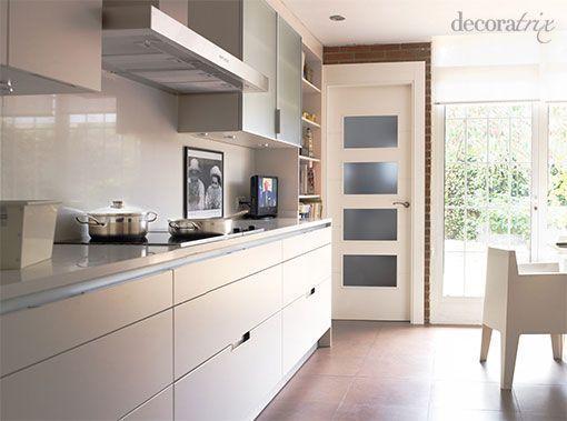 Una Cocina Blanca Y Moderna - Cocina-blanca-moderna