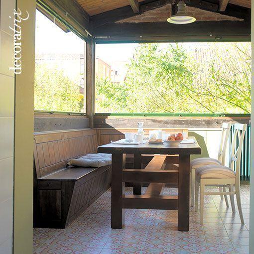 Cocina de estilo r stico con comedor de diario for Cocina con comedor diario