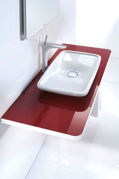 pure-life-red-washbasin-by-duravit
