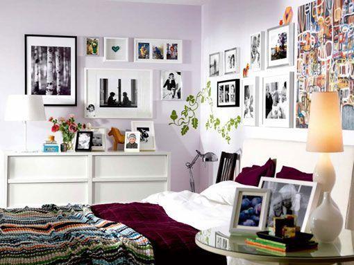 Colocar fotos en las paredes del dormitorio for Decoracion de la pared para el dormitorio