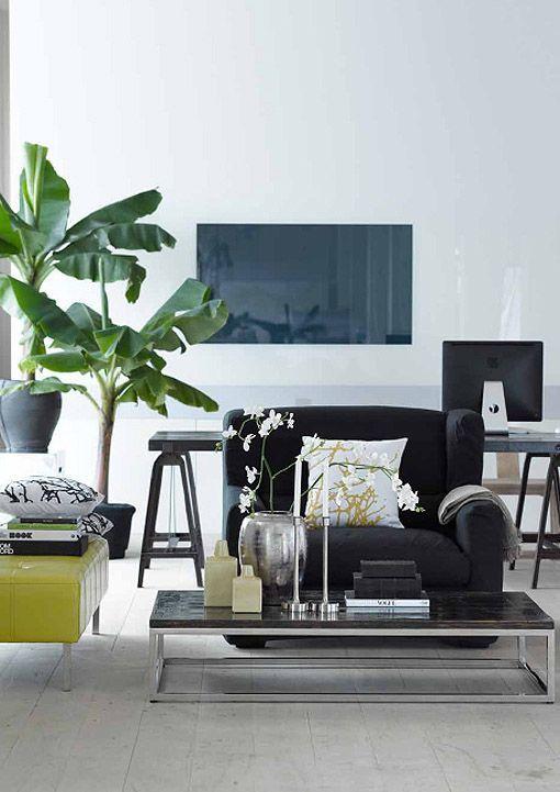 C mo decorar zonas con base de muebles oscuros for Casa paulina muebles y decoracion