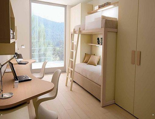 Muebles modulares para habitaciones juveniles for Armarios para habitaciones pequenas