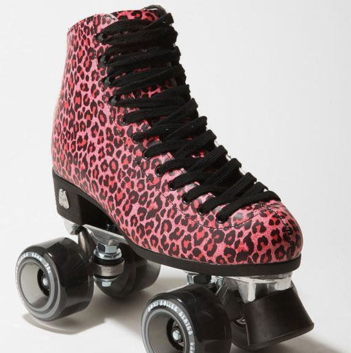 Patines Moxi Ivy en color leopardo-rosa