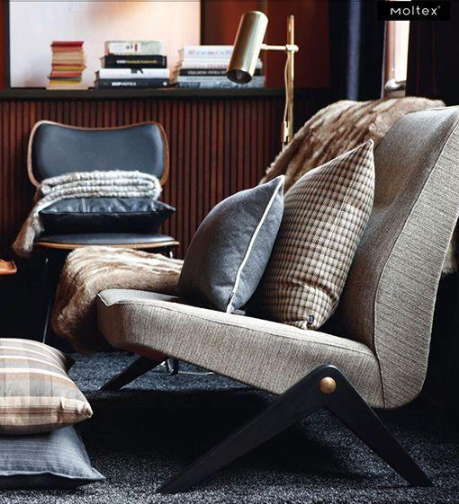 Textiles para calentar la casa en una amplia gama de tonos y texturas