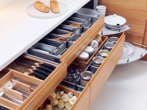 Gavetas para organizar la cocina - Ikea cubiertos cocina ...