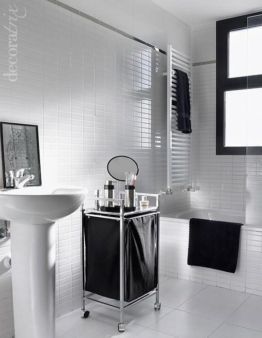 Un ba o decorado en blanco y negro for Idea deco en blanco y negro