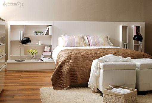 Un dormitorio blanco y radiante - Muebles de dormitorio blancos ...