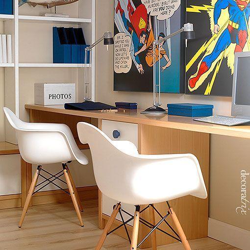 Zonas de estudio en dormitorios juveniles for Dormitorios juveniles con escritorio