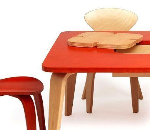 Mesa y sillas de diseño para habitaciones infantiles
