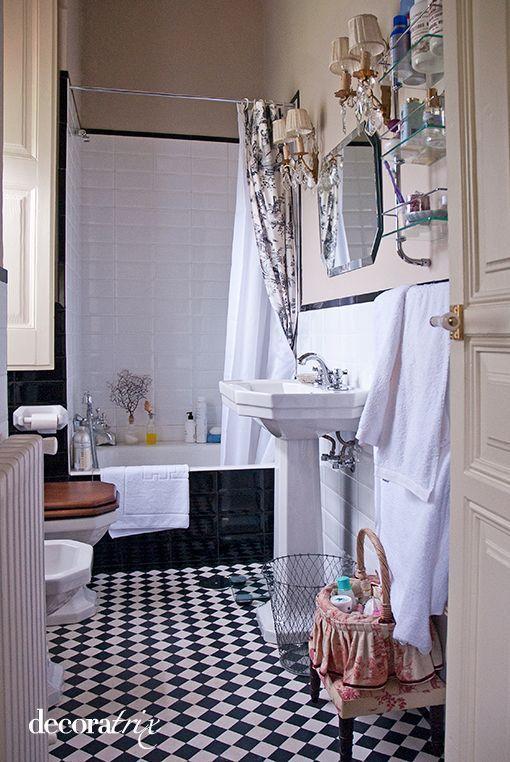 Cuarto de baño de estilo vintage