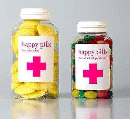 happy pills en frascos