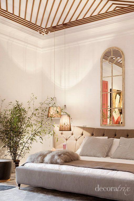 Suite refinada y femenina de aire rom ntico - Dormitorio estilo colonial ...