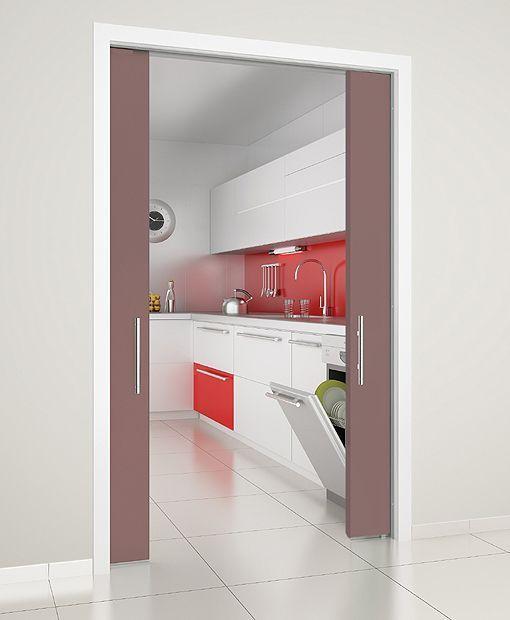 Puertas correderas en la cocina - Puertas de cocinas modernas ...