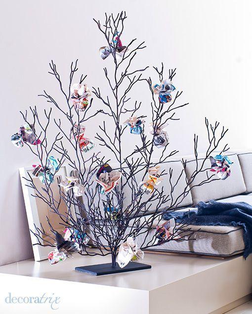 Rbol de navidad con bolas de papel - Arboles de navidad de papel ...