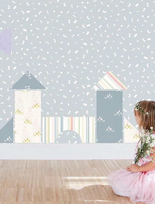 Papeles pintados con dibujos para decorar dormitorios - Papeles pared infantiles ...