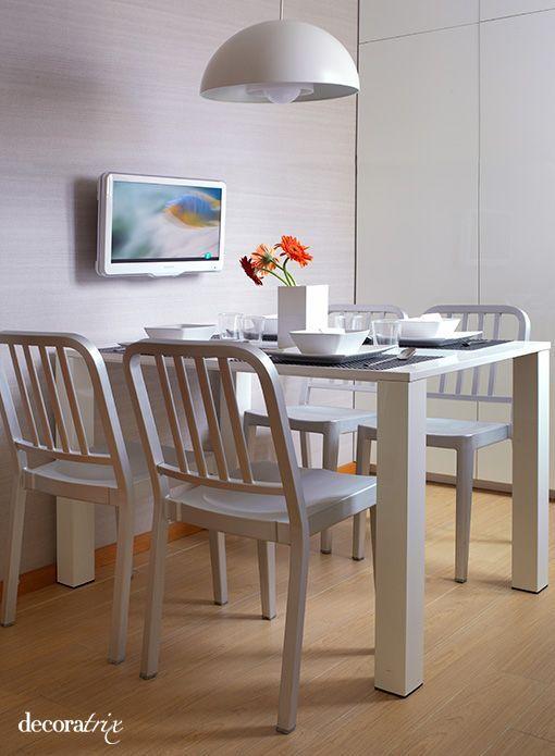 Una cocina moderna blanca y limpia - Cocinas comedor modernas ...