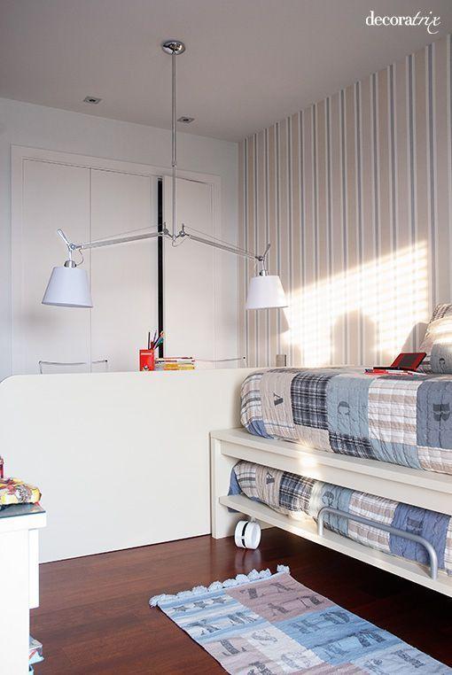 Dormitorios juveniles bien distribuidos - Habitaciones infantiles con dos camas ...