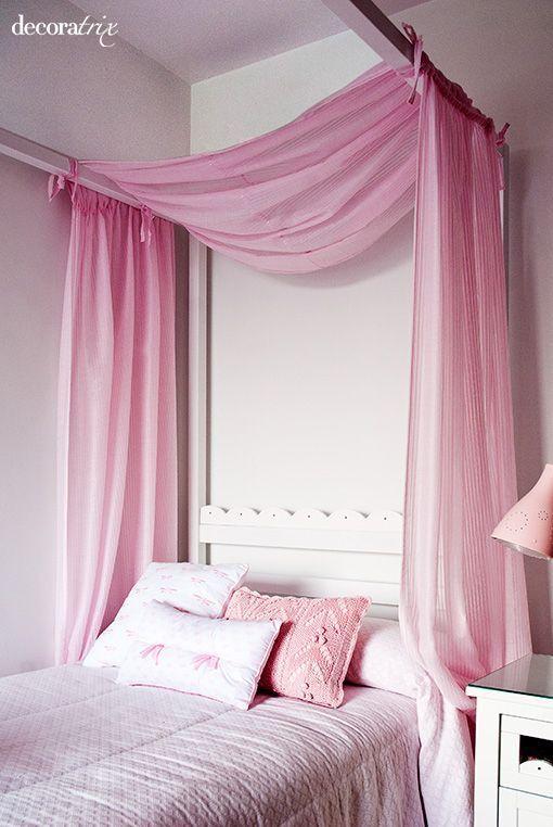 Dormitorio con dosel para una ni a - Dormitorio para ninas ...