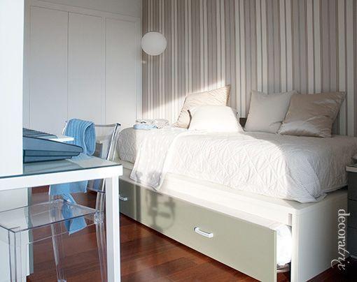 Dormitorios juveniles bien distribuidos - Habitacion con cama nido ...