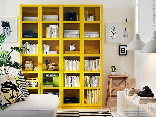 Ikea Puertas Estanteria Billy.La Libreria Billy De Ikea En Colores Block