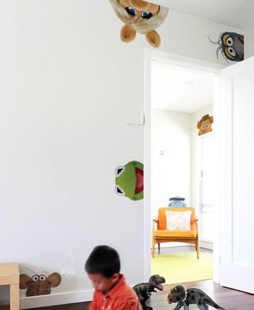 The Muppets Los Teleñecos La Rana Gustavo Triki El: Vinilos Infantiles Con Los Teleñecos Para Decorar Espacios