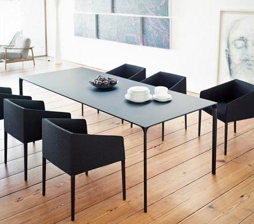 Mesa y sillas para comedores modernos Sillas de comedor blancas modernas