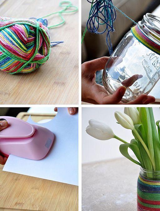 reciclar tarros de mermelada en floreros