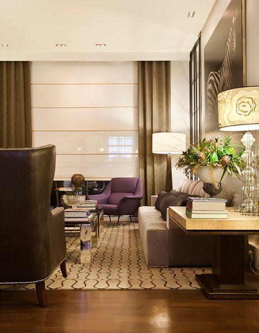 Salón-comedor de estilo clásico contemporáneo