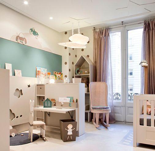 Decoración infantil: una habitación de bebé con muebles crecederos