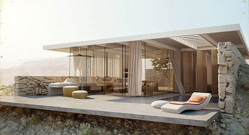 Magn fica casa virtual en el desierto desconocido for Adobe style mobile homes