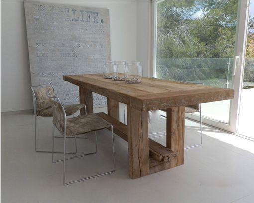Mesas de madera maciza para el comedor - Mesa madera maciza rustica ...