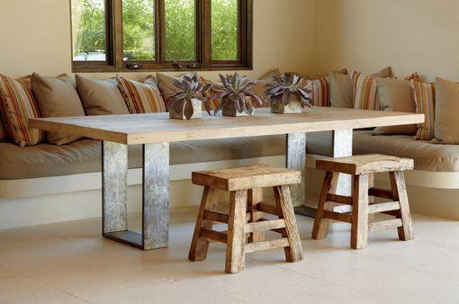mesas de madera maciza para el comedor On mesas de cocina de madera modernas