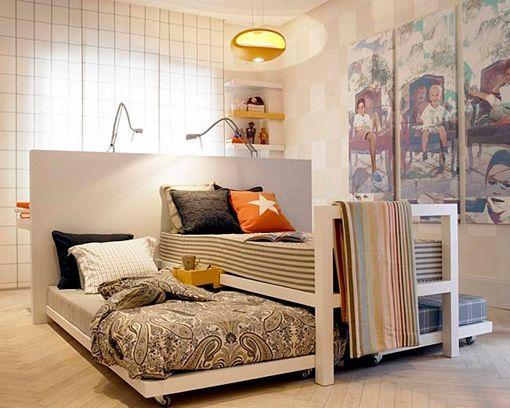 Dormitorios compartidos para tres y cuatro hermanos - Muebles en dos hermanas ...