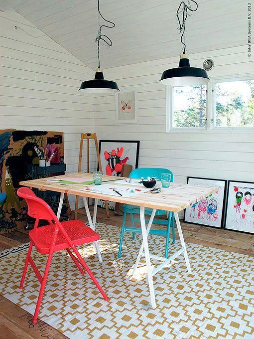 Idea para organizar y decorar la zona de estudio de los niños
