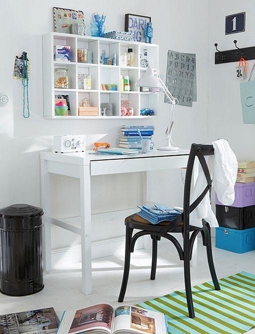 Escritorios para renovar las zonas de estudio y trabajo - Escritorio para espacios pequenos ...