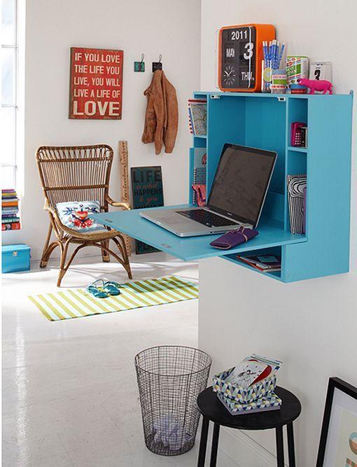 Escritorios para renovar las zonas de estudio y trabajo for Mesa escritorio abatible