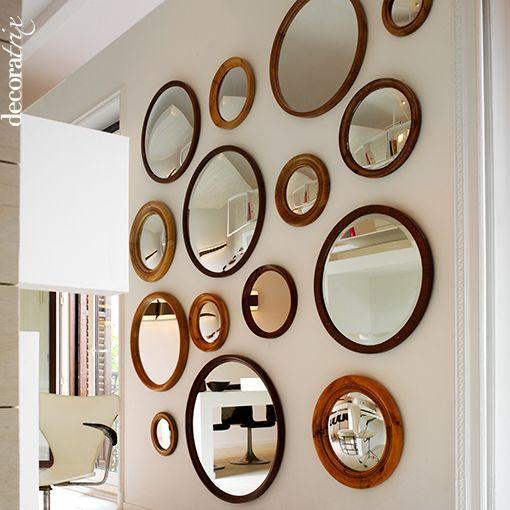Decorar la pared de 5 formas diferentes for Espejos redondos para decoracion