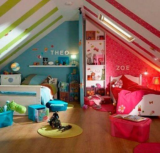 C mo decorar habitaciones infantiles compartidas por ni a y ni o - Decorar habitacion infantil nina ...